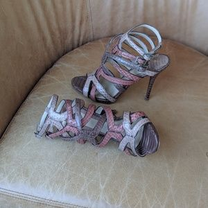 B Brian Atwood Carbinia Strappy Sandals Sz 7.5